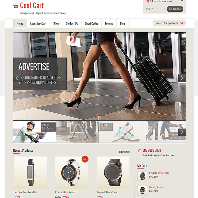CoolCart eCommerce WordPress Theme