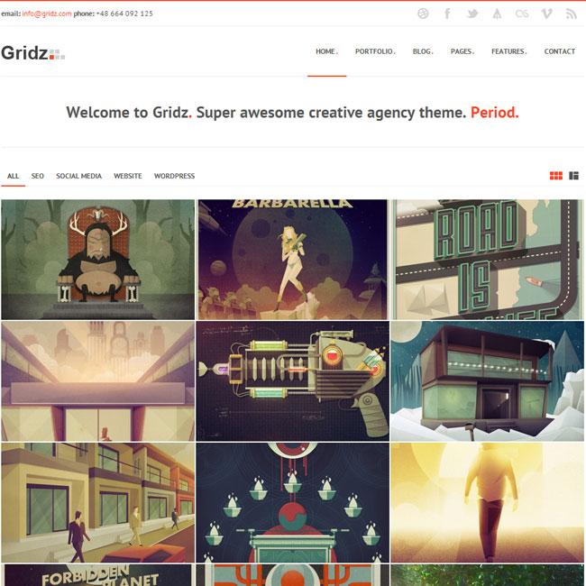 Gridz Portfolio WP Theme