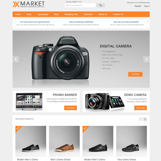 XMarket – eCommerce WordPress Theme