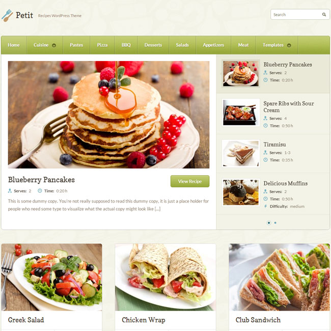 Petit WordPress Theme by WP-Zoom