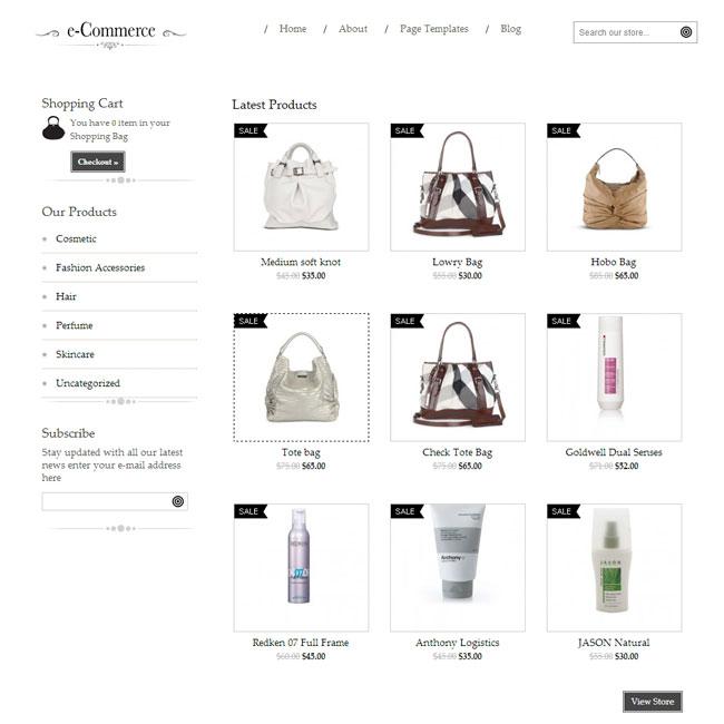 E-Commerce WordPress Theme by Templatic