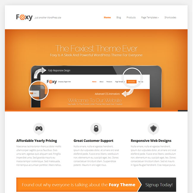 Foxy WordPress Theme by Elegant Theme