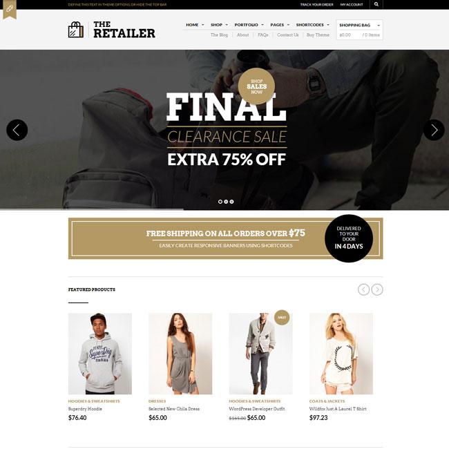 The Retailer eCommerce WordPress Theme