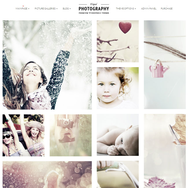 Tripod Photography WordPress Theme