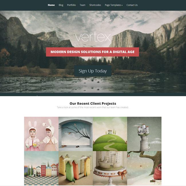 Vertex WordPress Theme by Elegant Themes