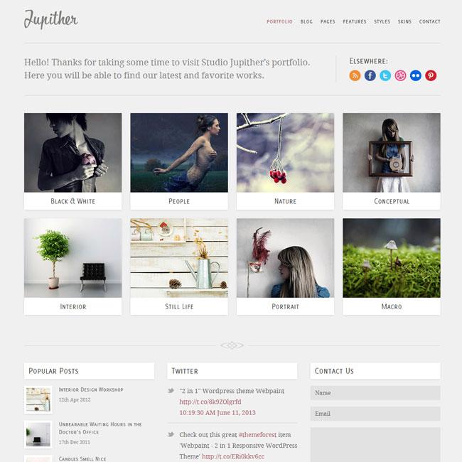 Jupiter Portfolio, Photography WordPress Theme