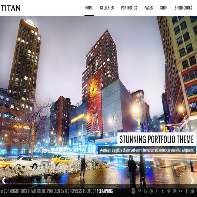 Titan WordPress Portfolio Photography Theme