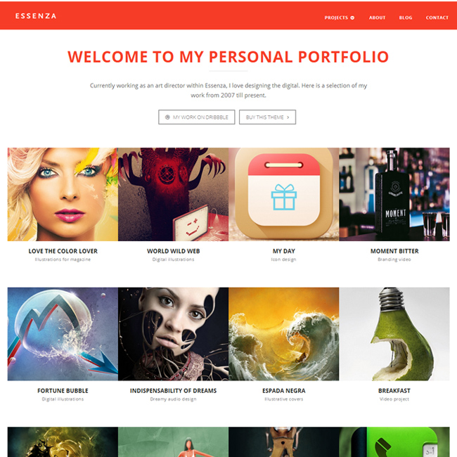 Essenza Portfolio WordPressTheme