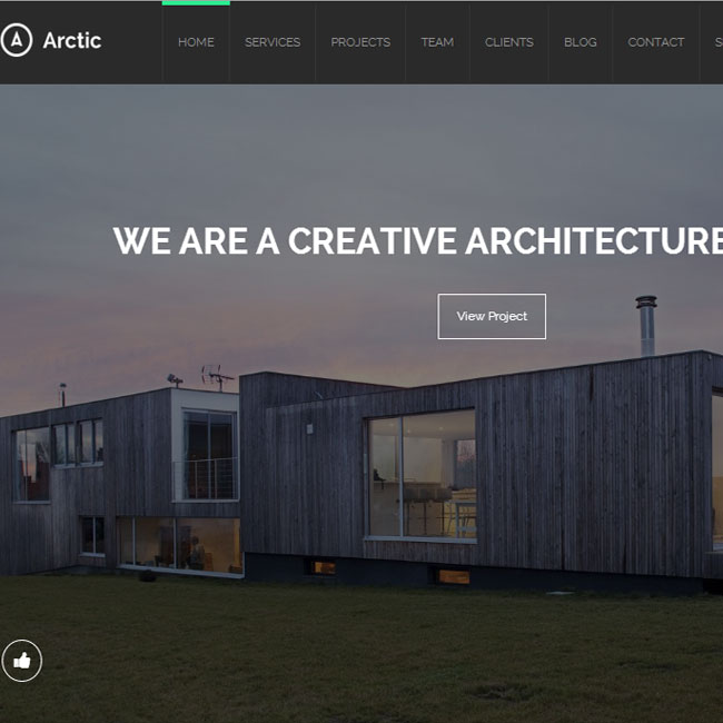 Arctic WordPress Theme for Architecture Websites