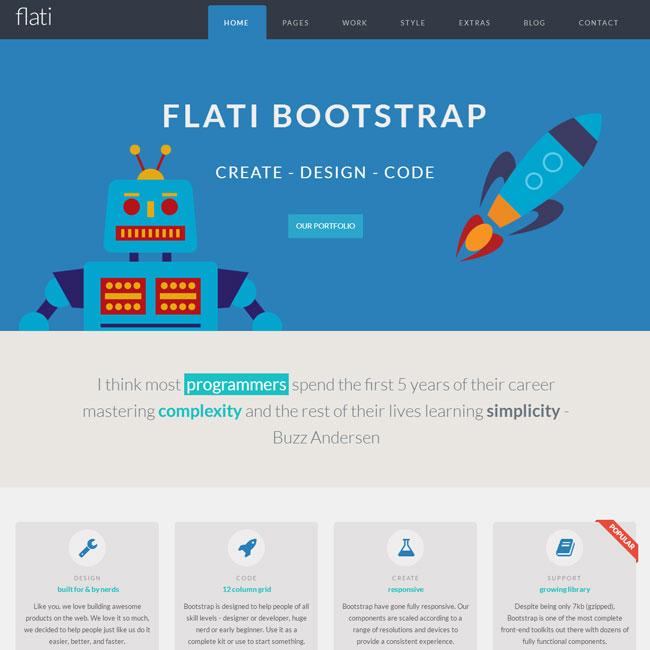 Flati WordPress Theme using Bootstrap