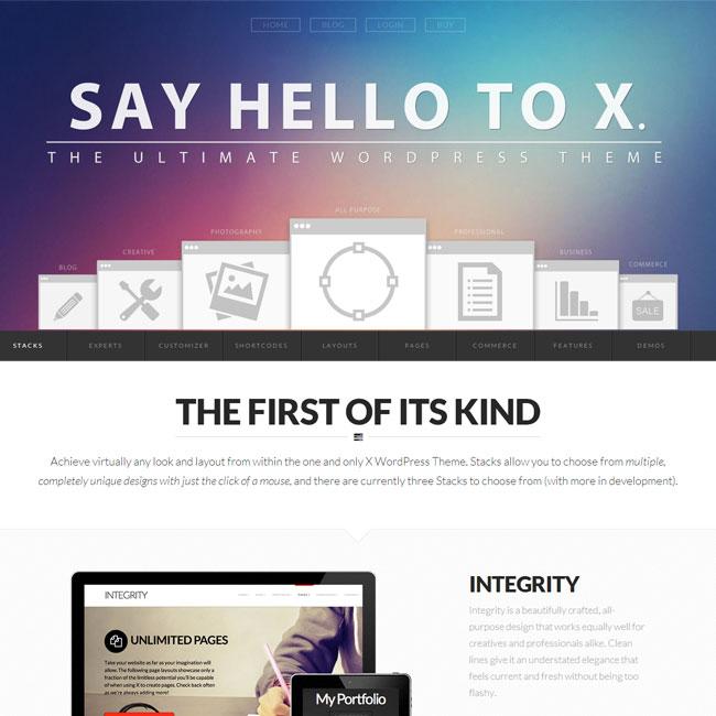 X – The Ultimate eCommerce WordPress Theme