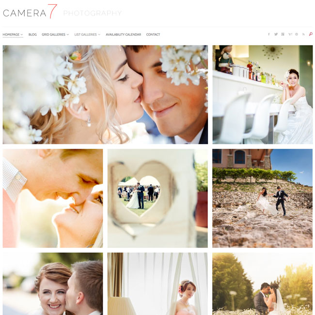 Camera 7 WordPress Theme for Photography Sites
