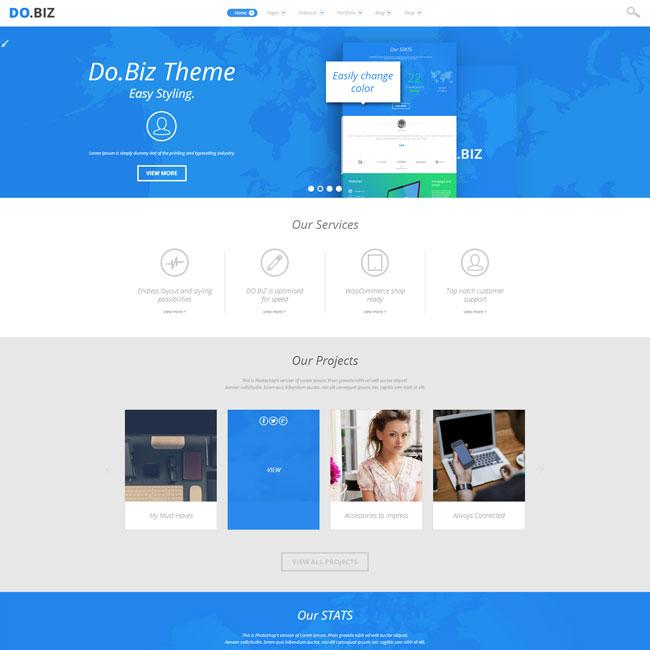 DO.BIZ – Business and Portfolio WordPress Theme