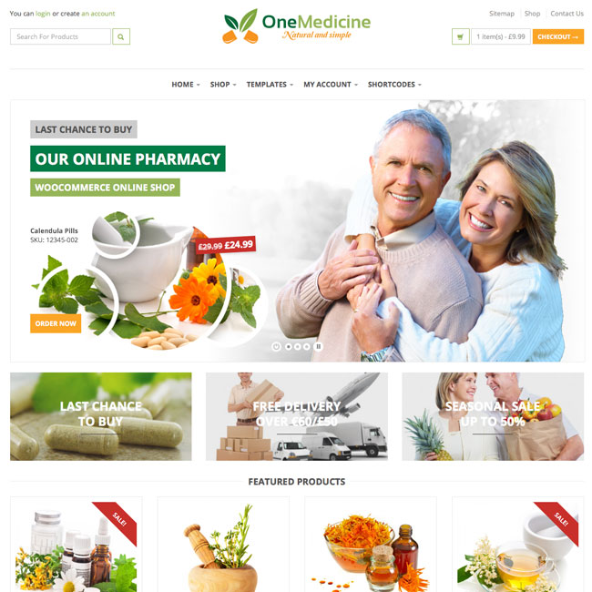 123Medicine WordPress Theme for Drug Stores
