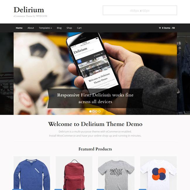 Delirium WordPress theme by WPZoom
