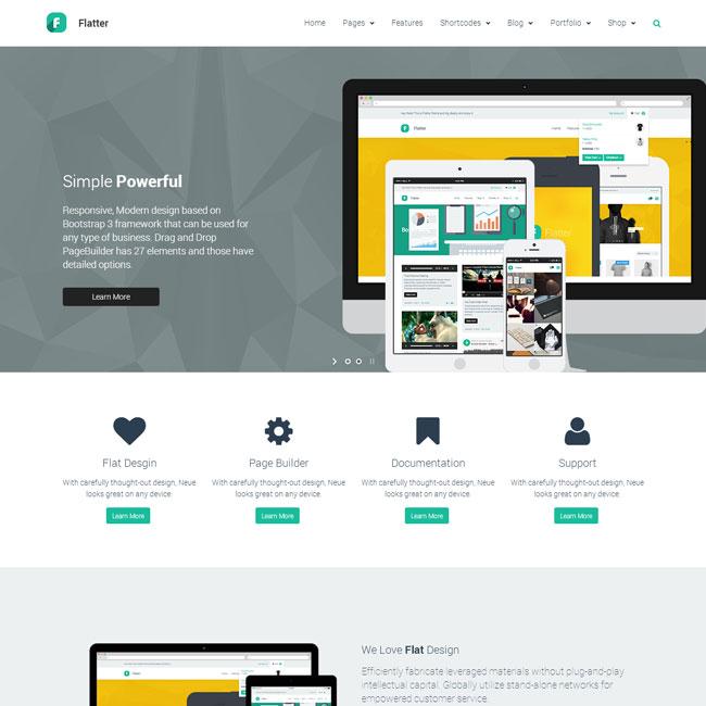 Flatter WordPress Multipurpose Theme