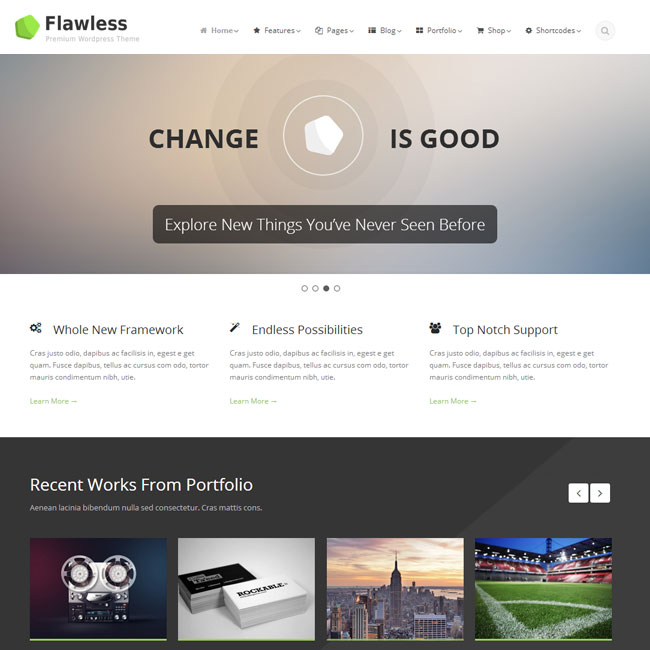 Flawless – Responsive WordPress Theme