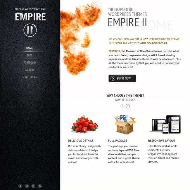 Empire II WordPress Theme