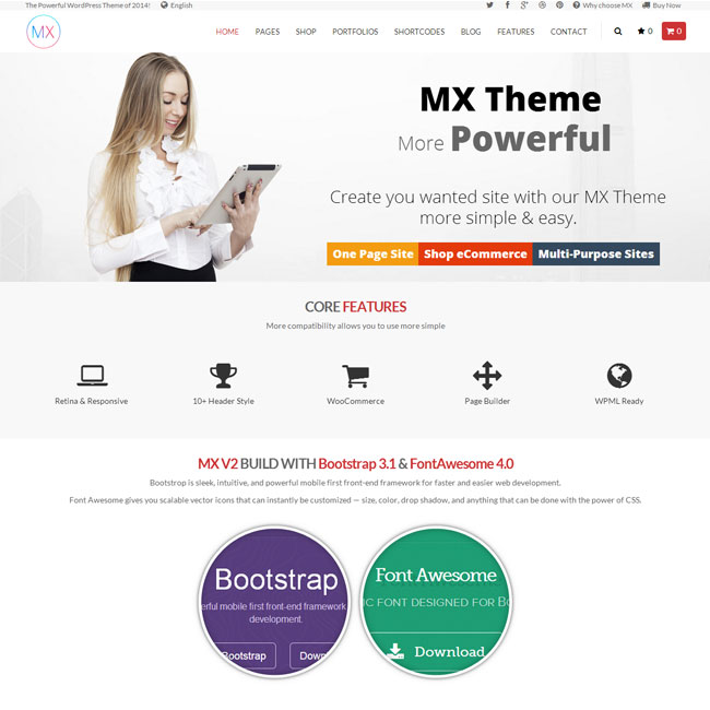 MX – Responsive Multipurpose WordPress Theme