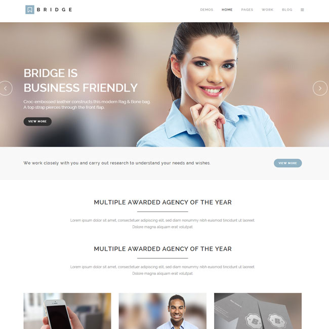 Bridge WordPress Theme for Creative Multi-Purpose Sites