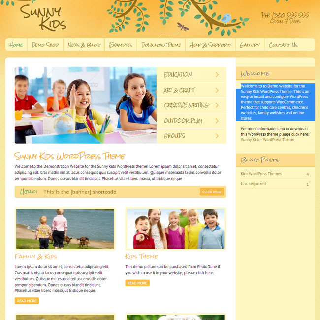 snny-kids-wordpress-theme