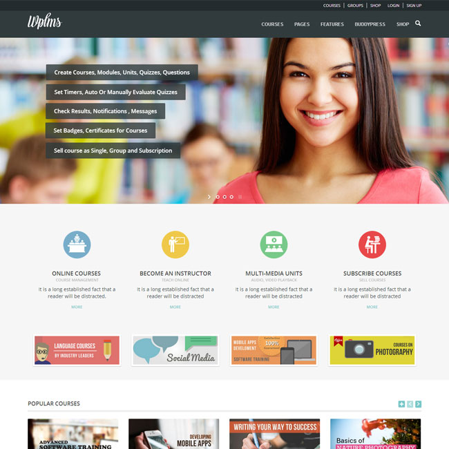 WPLMS – Education WordPress Theme