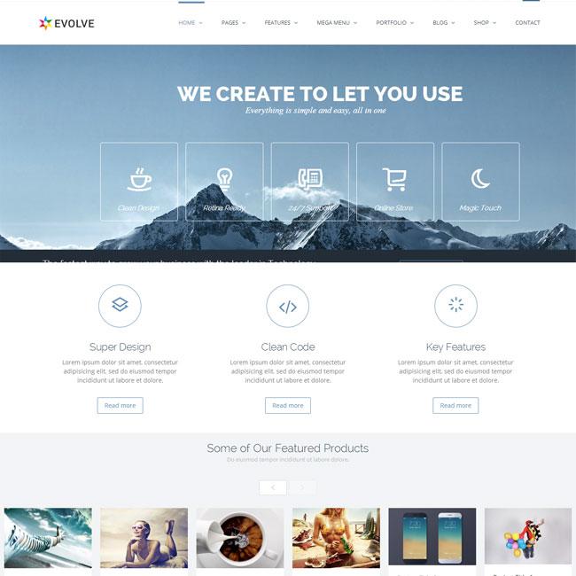 Evolve WordPress Theme for Corporation Websites
