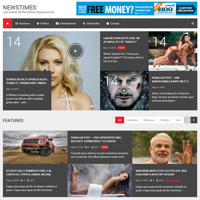 NewsTimes WordPress Theme