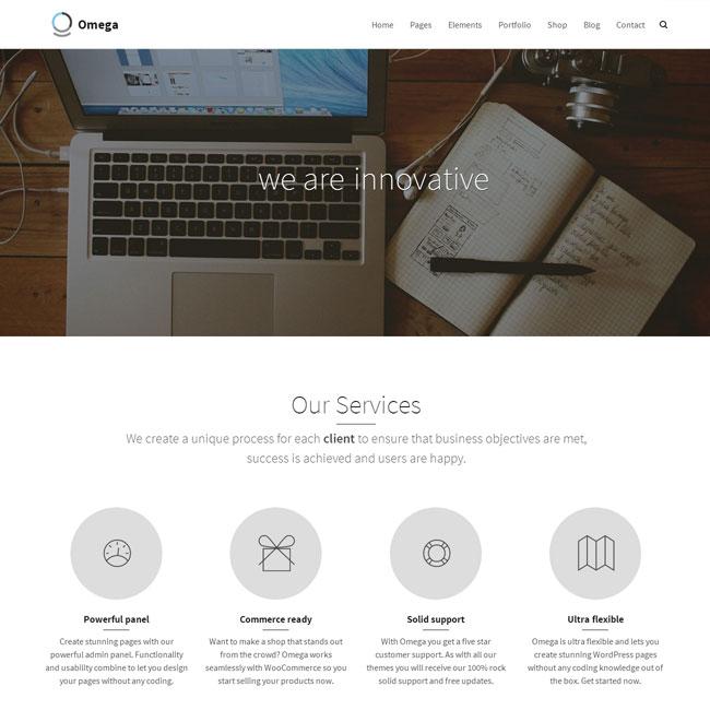 Omega Responsive WordPress Theme