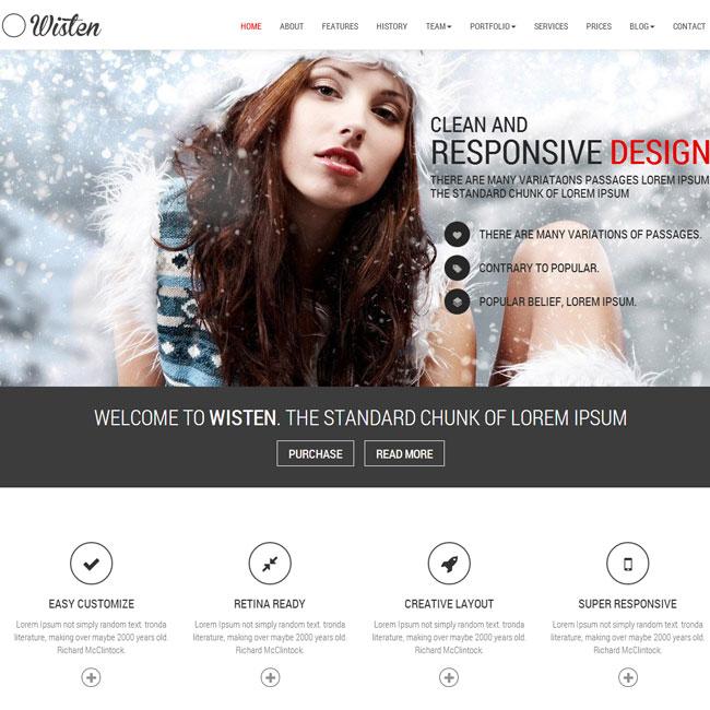 Wisten Parallax WordPress Theme