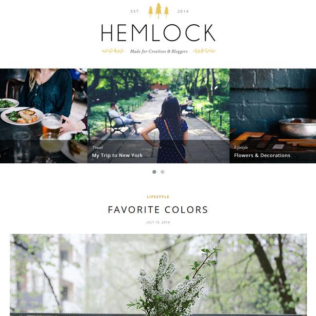 Hemlock WordPress Blog Theme