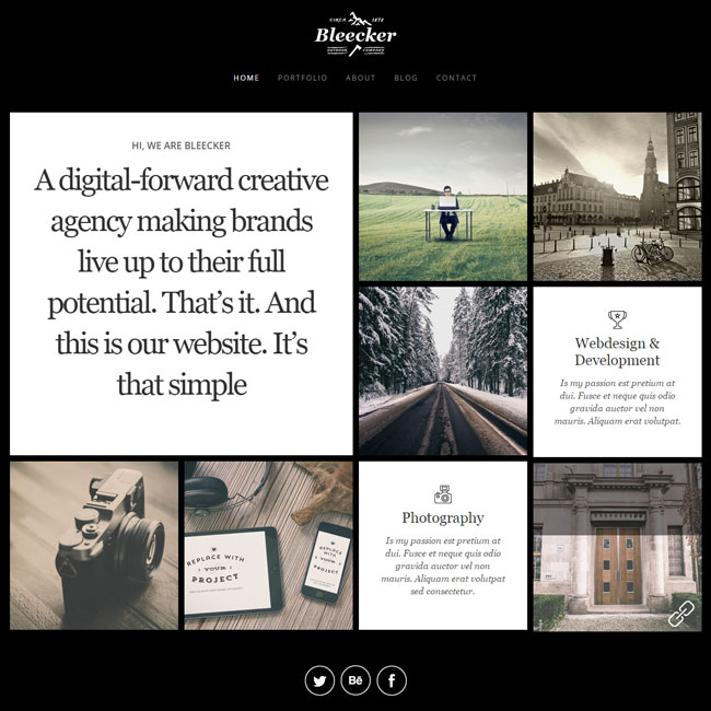 Bleecker – WordPress Portfolio Theme