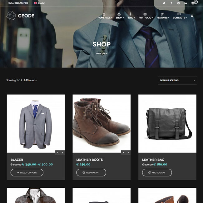 Geode WordPress Theme for Online Stores