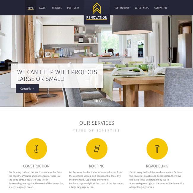 Renovation Construction WordPress Theme