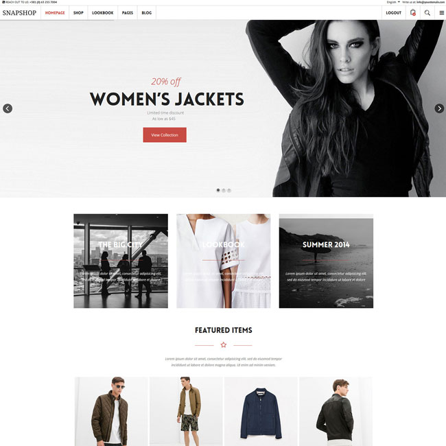 Snapshop WooCommerce WordPress Theme