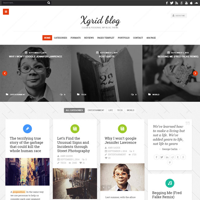 XGrid Blog WordPress Theme