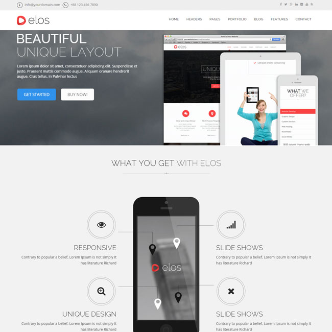 Elos Responsive WordPress Theme