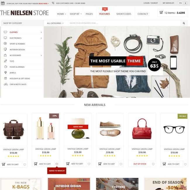 Nielsen eCommerce WordPress Theme