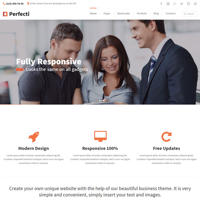 Perfecti Business WordPress Theme