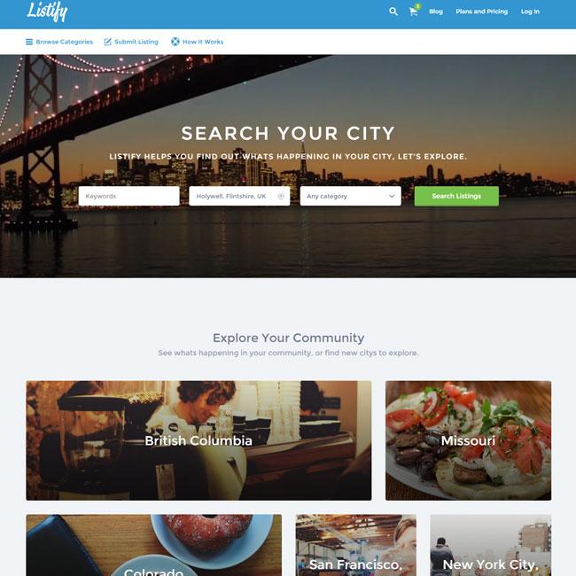 Listify WordPress Theme for Directory Sites